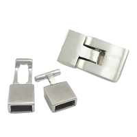 Stainless Steel Leather Cord Clasp