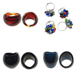 Lampwork Finger Ring