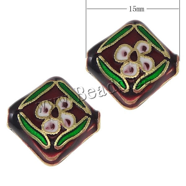 Imitation Cloisonne Zinc Alloy Beads