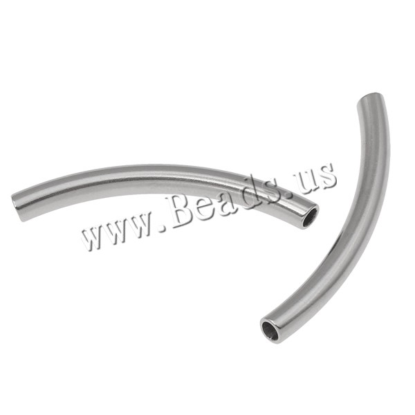 Stainless Steel Curved Tube Beads