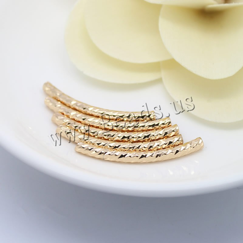 Brass Curved Tube Beads
