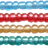Lustered Glass Seed Beads