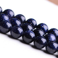 Natural Blue Goldstone Beads