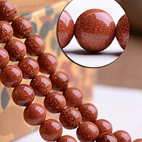 Natural Goldstone Beads