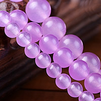 Natural Purple Chalcedony Bead