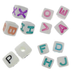 ABS Plastic Alphabet Beads