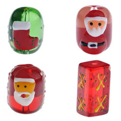 Christmas Glass Beads