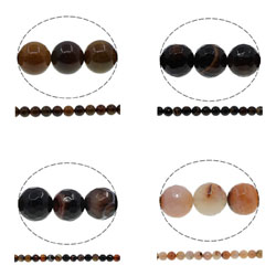 Natural Coffee Agate Beads