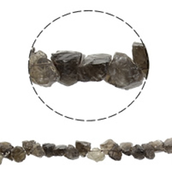 Natural Grey Quartz Beads