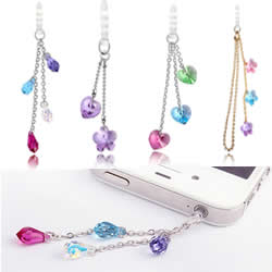 Element van de CRYSTALLIZED™ Crystal Earphone Jack stofkap stekkers