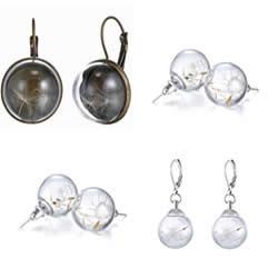 Glazen Globe oorbellen