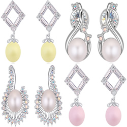 CRYSTALLIZED™ Crystal Pearl Earring