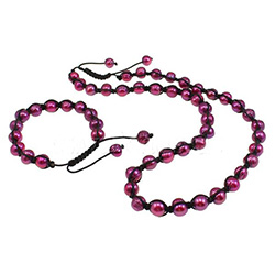 Trendy woven ball sieraden sets
