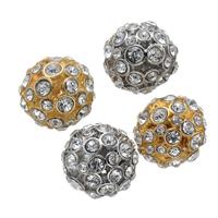 Perles en alliage de zinc strass