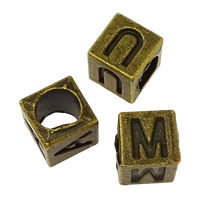 Zinc Alloy European Alphabet Beads