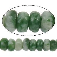 Natural Green Spot Stone Beads