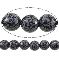 Natural Snowflake Obsidian Beads