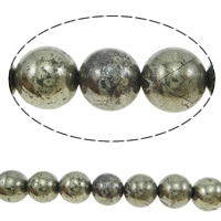 Natural Golden Pyrite Beads