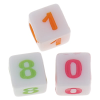 Number Acrylic Bead
