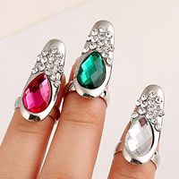 Zinc Alloy Nail Finger Ring