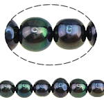 Potato Cultured Freshwater Pearl Beads, natural, black, 6-7mm, Hole:Approx 0.8mm, Sold Per 15 Inch Strand
