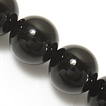 Black Diamond Beads, Round, 14mm, Hole:Approx 1.2-1.4mm, Length:Approx 15 Inch, 10Strands/Lot, Approx 27PCs/Strand, Sold By Lot