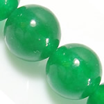 Natural Jade Beads, Jade Malaysia, Round, green, 12mm, Hole:Approx 1.2mm, Length:Approx 15 Inch, 10Strands/Lot, Approx 32PCs/Strand, Sold By Lot