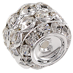 Rhinestone Jewelry Beads, 14.50x17mm, Hole:Approx 2mm, Sold by Bag