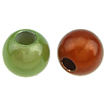 ABS Plastic Beads, Round, mixed colors, 12mm, Hole:Approx 4mm, 630PCs/Bag, Sold By Bag