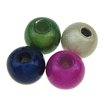 ABS Plastic Beads, Round, mixed colors, 4mm, Hole:Approx 1.5mm, 14300PCs/Bag, Sold By Bag