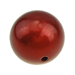 ABS Plastic Beads, Round, red, 25mm, Hole:Approx 3mm, 30PCs/Bag, Sold By Bag