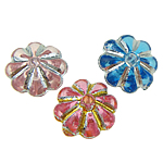 ABS Plastic Beads, Flower, mixed colors, 7x3mm, Hole:Approx 0.5mm, 7700PCs/Bag, Sold By Bag
