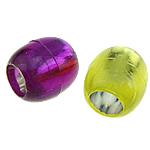 Koraliki plastikowe , Plastik ABS, Bęben, mieszane kolory, 12x13mm, otwór:około 7mm, 600komputery/torba, sprzedane przez torba
