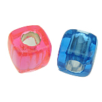 ABS Plastic Beads, Cube, mixed colors, 8x8mm, Hole:Approx 4mm, 1700PCs/Bag, Sold By Bag