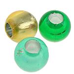 Koraliki plastikowe , Plastik ABS, Bęben, mieszane kolory, 8x7mm, otwór:około 3.5mm, 2400komputery/torba, sprzedane przez torba