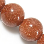 Goldstone Beads, Round, natural, 8mm, Hole:Approx 1mm, Length:approx 15.5 Inch, 10Strands/Lot, Sold by Lot