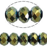 Rondelle Crystal Beads, imitation CRYSTALLIZED™ element crystal, metallic color plated, 6x8mm, Hole:Approx 1.5mm, Length:16 Inch, 10Strands/Bag, Sold By Bag