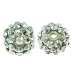 Resin Rhinestone Beads, 12x14mm, Hole:Approx 2mm, 100PCs/Bag, Sold by Bag