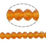 Rondelle Crystal Beads, imitation CRYSTALLIZED™ element crystal, Sun, 8x10mm, Hole:Approx 1.5mm, Length:22 Inch, 10Strands/Bag, Sold By Bag