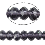 Rondelle Crystal Beads, imitation CRYSTALLIZED™ element crystal, Violet, 8x10mm, Hole:Approx 1.5mm, Length:22 Inch, 10Strands/Bag, Sold By Bag