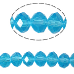 Rondelle Crystal Beads, imitation CRYSTALLIZED™ element crystal, Aquamarine, 3x4mm, Hole:Approx 1mm, Length:Approx 18.5 Inch, 10Strands/Bag, Sold By Bag