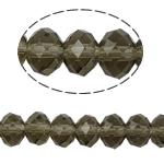 Kryształowe koraliki rondelle, Kryształ, Okrąg, imitacja kryształu CRYSTALLIZED™, szarobeżowy, 8x10mm, otwór:około 1.5mm, długość:22 cal, 10nici/torba, sprzedane przez torba