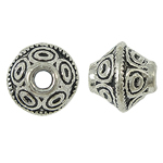Zinc Alloy Jewelry Beads, Bicone, antique silver color plated, nickel, lead & cadmium free, 7x6mm, Hole:Approx 1.5mm, Approx 810PCs/KG, Sold By KG