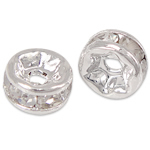 Rhinestone Spacers, 4x4x2mm, Hole:Approx 0.8mm, 100PCs/Bag, Sold By Bag