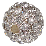 Rhinestone Jewelry Beads, 10mm, Hole:Approx 2mm, 20PCs/Bag, Sold by Bag