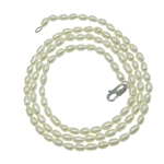 Freshwater Cultured Pearl Bracelet, Freshwater Pearl, iron lobster clasp, white, 4.5-5mm, Sold Per 7.5 Inch Strand