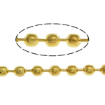 Brass Ball Chain, gold color plated, nickel, lead & cadmium free, 2.40mm, Length:100 m, Sold By Lot