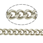 Brass Curb Chain platinum color plated nickel lead   cadmium free 4x3.50x1mm Length:100 m