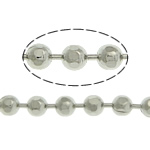Brass Ball Chain, platinum color plated, nickel, lead & cadmium free, 2mm, Length:100 m, Sold By Lot