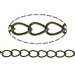 Brass Oval Chain, antique bronze color plated, twist oval chain, nickel, lead & cadmium free, 5x3.50x0.50mm, Length:100 m, Sold By Lot